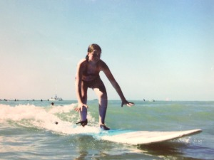 My first wave ever. Huge, I know. Tato was the one that signed me up for surfing.